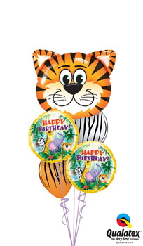 We Like To Party Tickled Tiger Birthday Balloon Bouquet