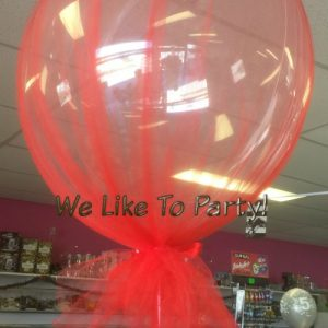 We Like To Party Tulle Bubble Balloon