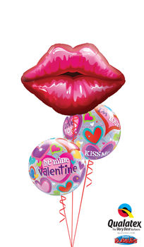 We Like To Party Valentine Kisses Balloon Bouquet