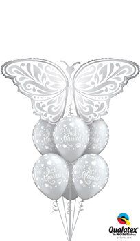 We Like To Party Wedding Butterfly Balloon Bouquet