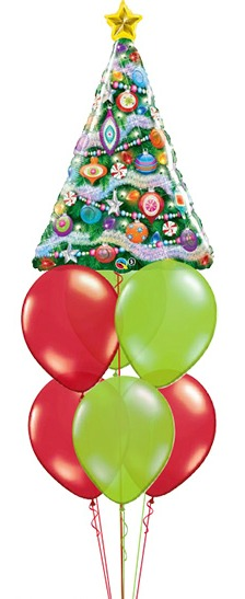 We Like To Party Xmas Tree Balloon Bouquet