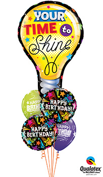 We Like To Party Your Time To Shine Balloon Bouquet