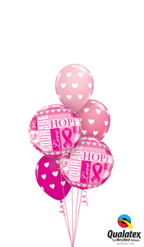 We Like To Party Cancer Inspiration Balloon Bouquet