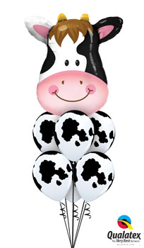 We Like To Party Contented Cow Balloon Bouquet