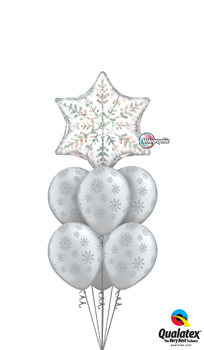 We Like To Party Dazzling Snowflakes Balloon Bouquet