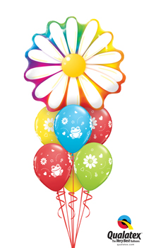 We Like To Party Delightful Daisy Balloon Bouquet