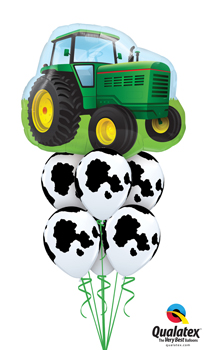 We Like To Party Farm Tractor Balloon Bouquet