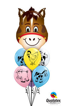 We Like To Party Hilarious Horse Balloon Bouquet