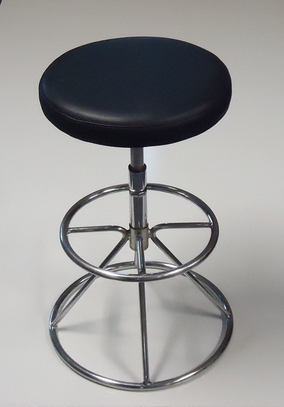 We Like To Party Bar Stool Chrome Black Seat