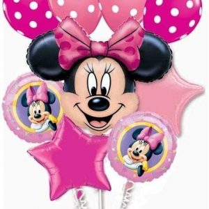 We Like To Party Minnie Mouse Bunch Balloon Bouquet