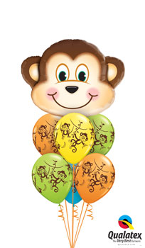 We Like To Party Mischievous Monkey Balloon Bouquet