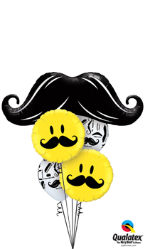 We Like To Party Moustaches Galore Balloon Bouquet