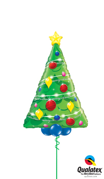 We Like To Party Oh Christmas Tree Foil Balloon Bouquet