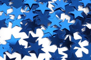 We Like To Party Table Confetti Stars Sapphire Blue