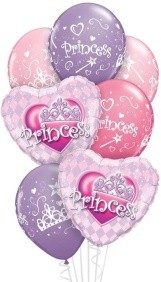 We Like To Party Pretty Princess Balloon Bouquet