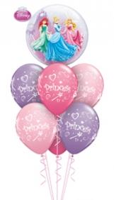 We Like To Party Princesses Bubble Balloon Bouquet