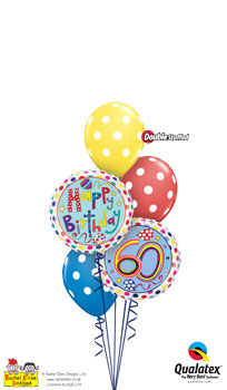 We Like To Party Rachel Ellen 60th Birthday Balloon Bouquet