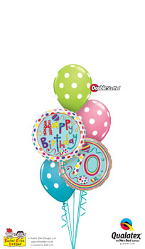 We Like To Party Rachel Ellen 70th Birthday Balloon Bouquet