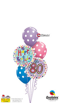 We Like To Party Rachel Ellen 80th Birthday Balloon Bouquet