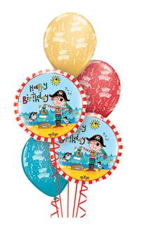 We Like To Party Rachel Ellen Pirate Balloon Bouquet