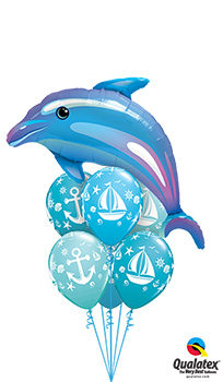 We Like To Party Sail And Anchor Balloon Bouquet