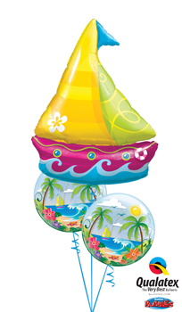 We Like To Party Tropical Luau Balloon Bouquet