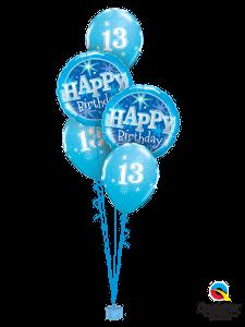 13th Birthday Blue Sparkle Bouquet