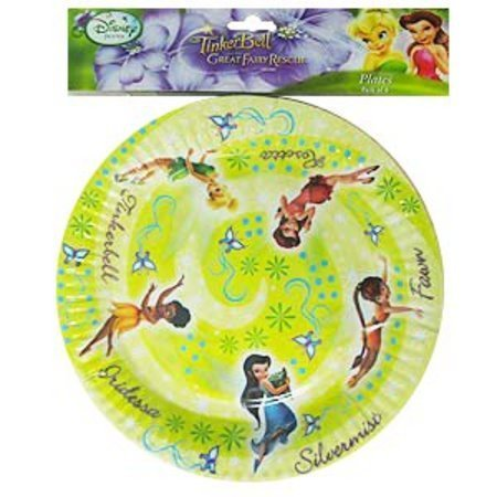 Tinkerbell u0026 The Great Fairy Rescue Plates (8pk)  sc 1 st  Party Supplies & Tinkerbell u0026 The Great Fairy Rescue Plates (8pk) | We Like To Party