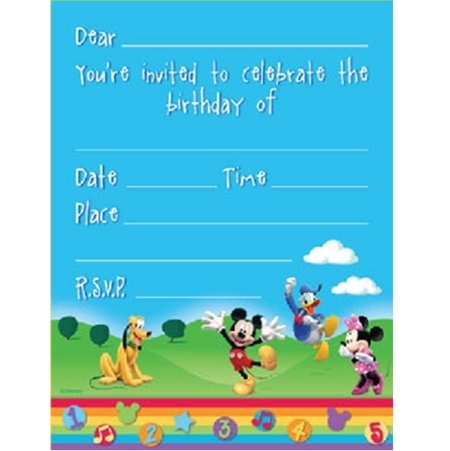 Mickey Mouse Clubhouse Invitations 8pk