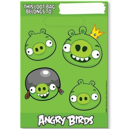We Like To Party Angry Birds Loot Bags, Pack of 8