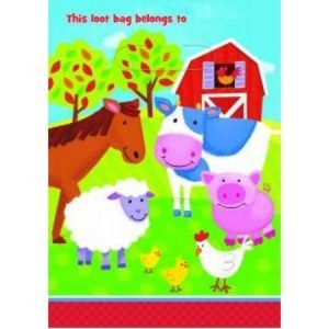 We Like To Party Barnyard Fun Loot Bags, Pack of 8