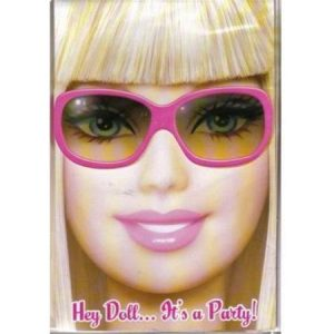We Like To Party Barbie Invitation and Envelopes, Pack of 8
