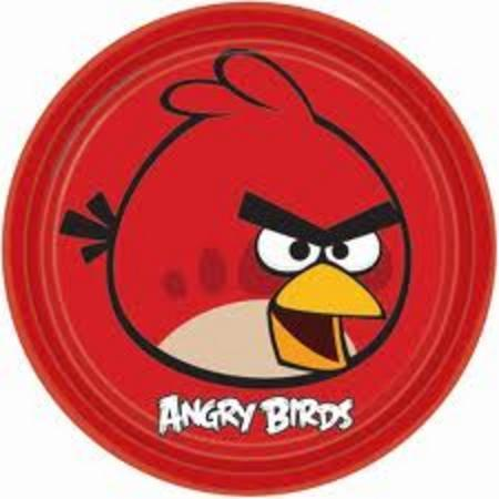 We Like To Party Angry Birds Dinner Plates, Pack of 8
