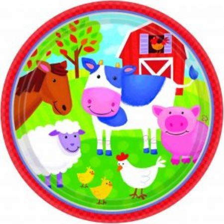 We Like To Party Barnyard Fun Party Plates, Pack of 8