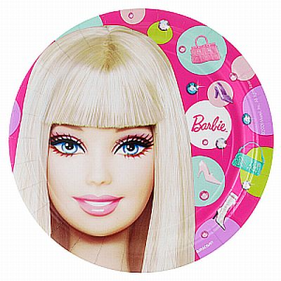 We Like To Party Barbie Party Dinner Plates, Pack of 8