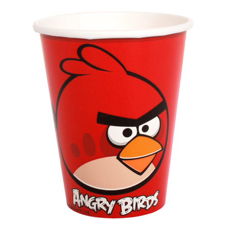 We Like To Party Angry Birds Party Cups, Pack of 8
