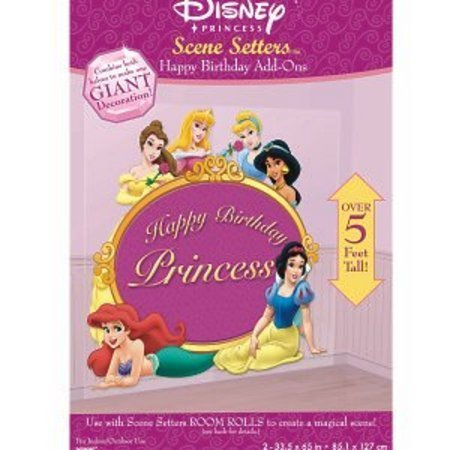 Disney Princess Happy Birthday Wall Decoration Kit