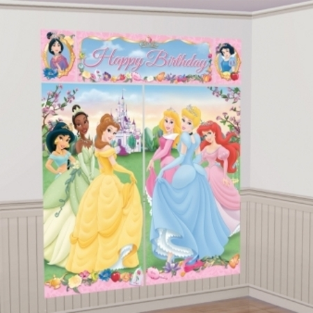 Disney Princess Sparkle Birthday Wall Decorating Kit
