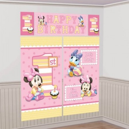 Minnie Mouse 1st Birthday Wall Kit We Like To Party Supplies And Decorations