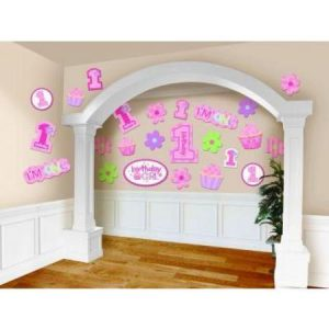 We Like To Party First Birthday Girl Value Pack Cutouts
