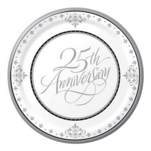 We Like To Party 25th Anniversary Plates