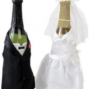 We Like To Party Hens Night Bride And Groom Bottle Covers