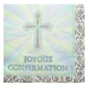 We Like To Party Religious Party Supplies & Decorations Confirmation Napkins