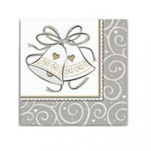 We Like To Party 25th Anniversary Silver And White Napkins