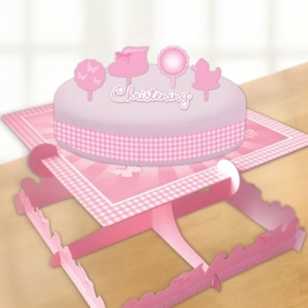 Pink Booties Christening Cake Decorating Kit
