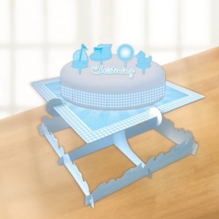 We Like To Party Christening Party Supplies & Decorations Blue Booties Cake Decorating Kit