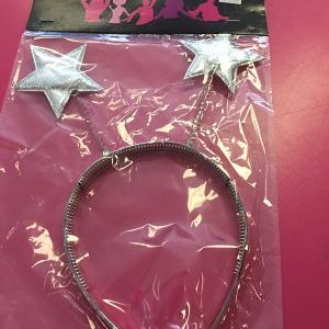 We Like To Party Head Bopper Headband Silver Stars