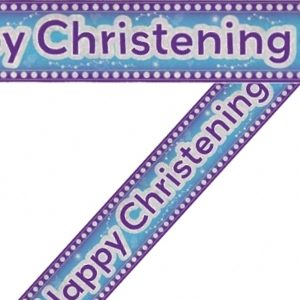 We Like To Party Christening Party Supplies & Decorations Happy Christening Blue