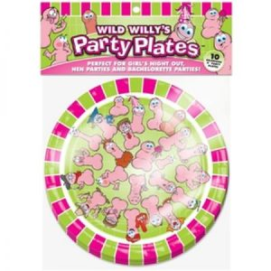 We Like To Party Hens Night Wild Willy Party Plates