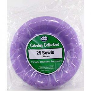 We Like To Party Plain Tableware Plastic Bowls Lavender 25pk